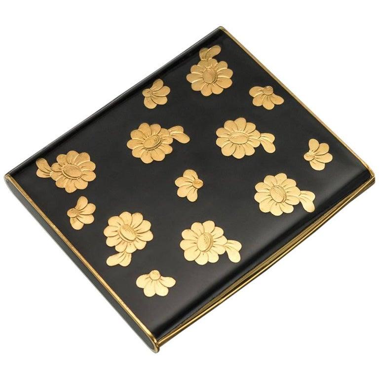 20th Century French 18-Karat Gold & Enamel Cigarette Case, Van Cleef & Arpels