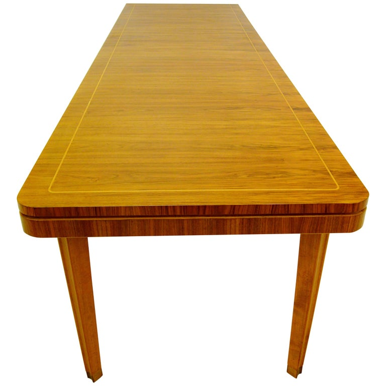 Large 1940s Dining Room Table or Conference Table