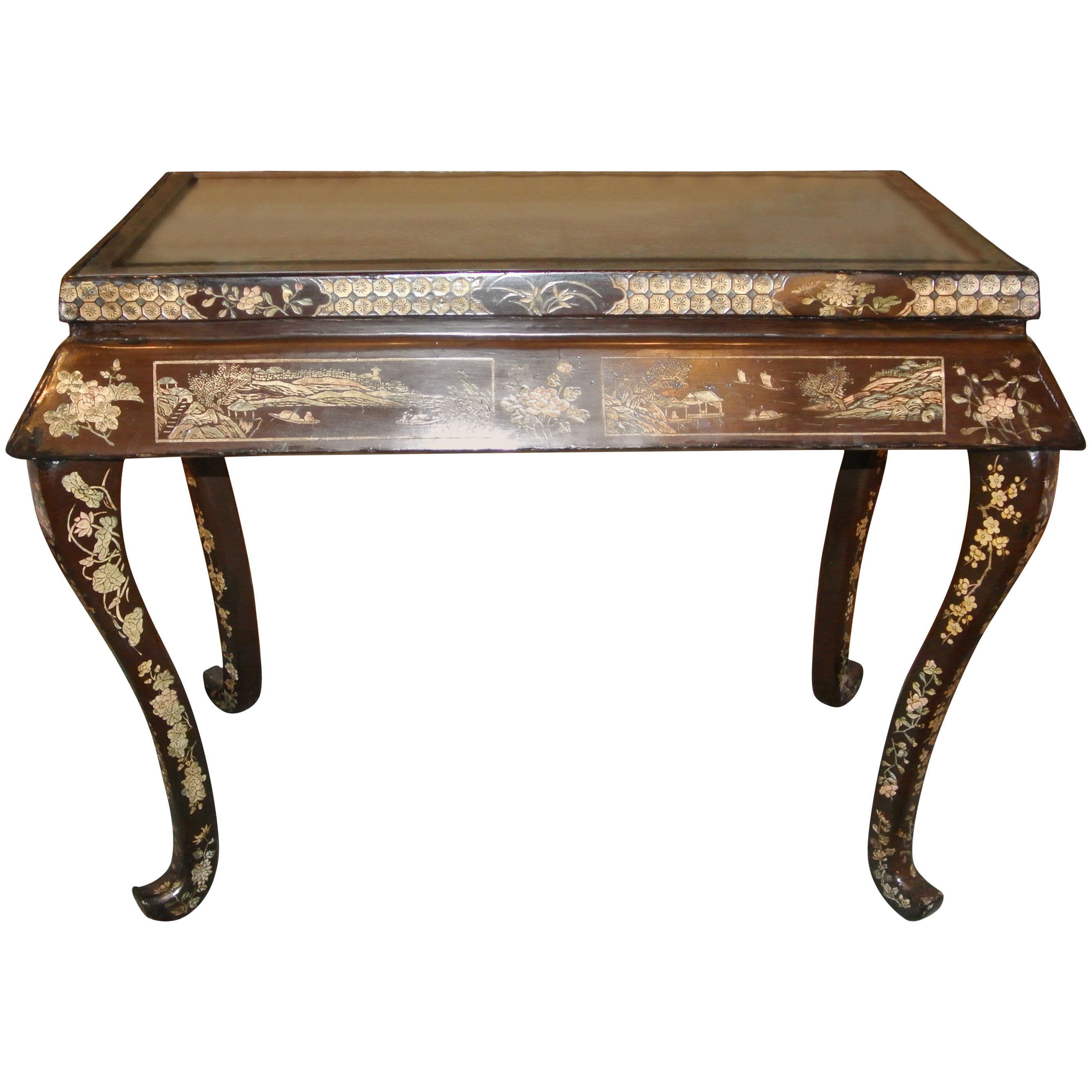 Early 19th Century Japanned Console Table