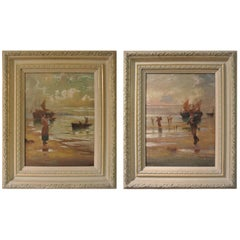 Pair of Early 20th Century Coastal Scenes