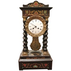19th Century French Empire Portico Clock
