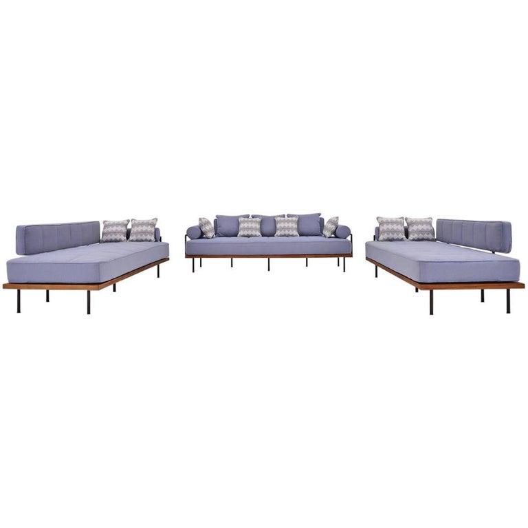 Awe Inspiring Bespoke Three Seat Outdoor Sofa Set Reclaimed Wood Brass Frames P Tendercool Unemploymentrelief Wooden Chair Designs For Living Room Unemploymentrelieforg