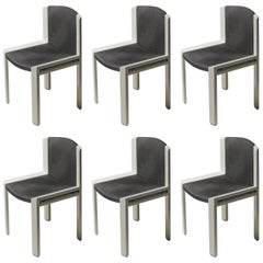 Set of Six Chairs by Joe Colombo for Pozzi