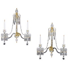Highly Important Pair of English George III Period Wall Lights