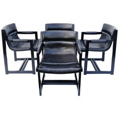 Set of Four Armchairs by Roche Bobois, France, 1970s