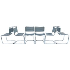 Set of Six Chairs by Mart Stam for Fasem, Italy, 1970s