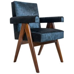 Pierre Jeanneret, PJ-SI-30-A, Committee Armchair, Chandigarh, circa 1953