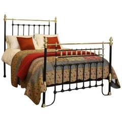 Brass and Iron Bed in Black, MK126