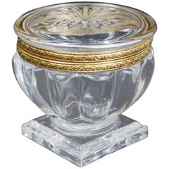 Crystal Godron Candy Box, circa 1900