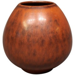 Ceramic Vase with a Light Brown Glaze, No.: 1 by Saxbo