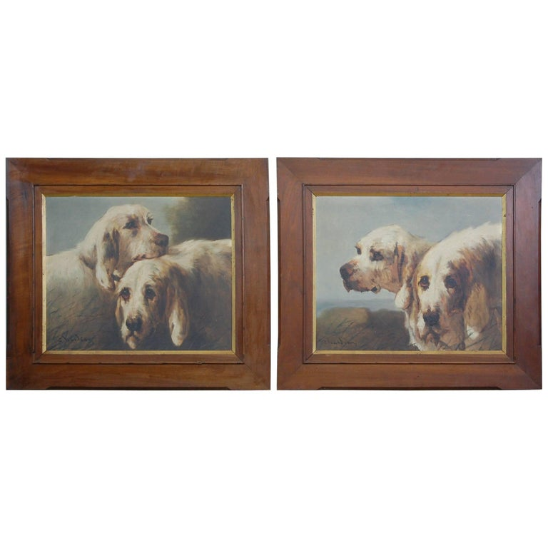 Early 20th Century Pair of Dog Portraits