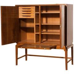 1950s, Burl Wood Cabinet by Boet Sweden