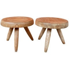 Charlotte Perriand, Pair of Pine Stools, circa 1953
