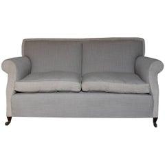 Good 1920s Two-Seat Linen Sofa