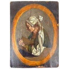 17th-18th Century, Possibly German, Oil on Paper Laid to Panel