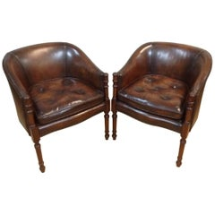 Pair of 20th Century Tub Chairs