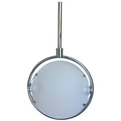 Fontana Arte Nobi Ceiling Lamp, Glass and Chrome