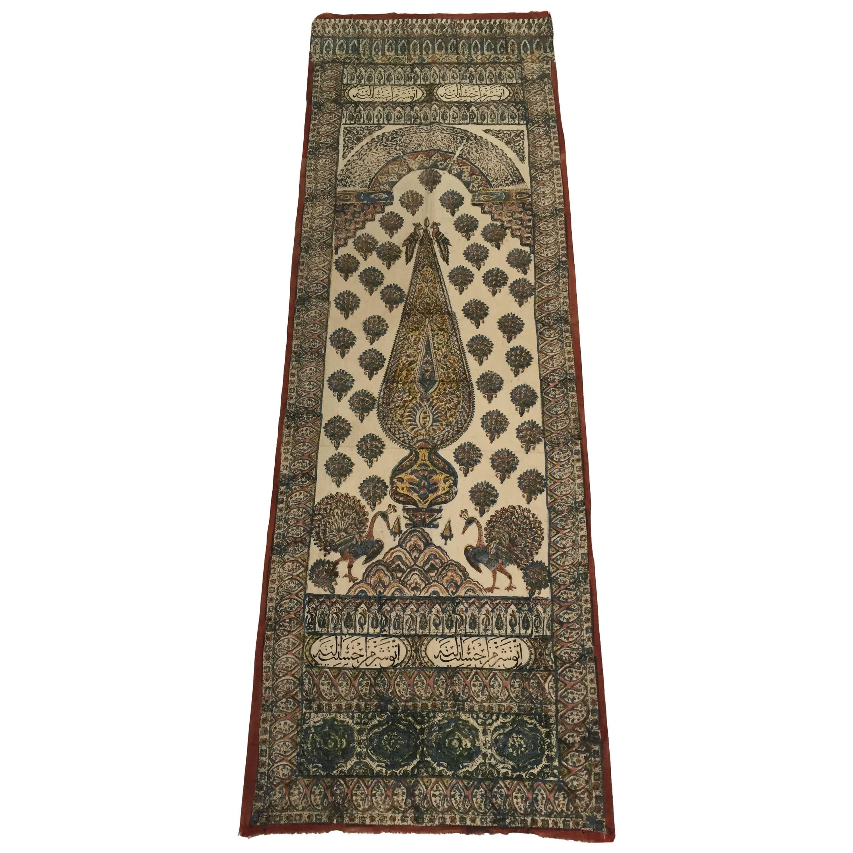 Moorish Paisley Woodblock Printed Textile Wall Hanging