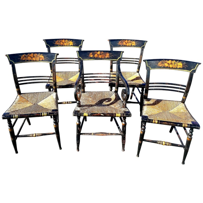 American fancy dining chairs new york circa
