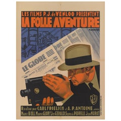 """La Folle Aventure"" Original French Movie Poster"