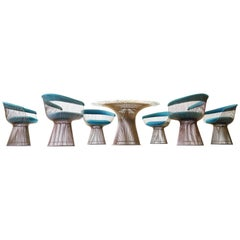 Set of Dining Table & Six Side Chair by Warren Platner Knoll International 1960s