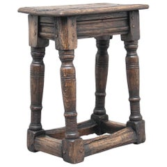 Early 20th Century Oak Joint Stool