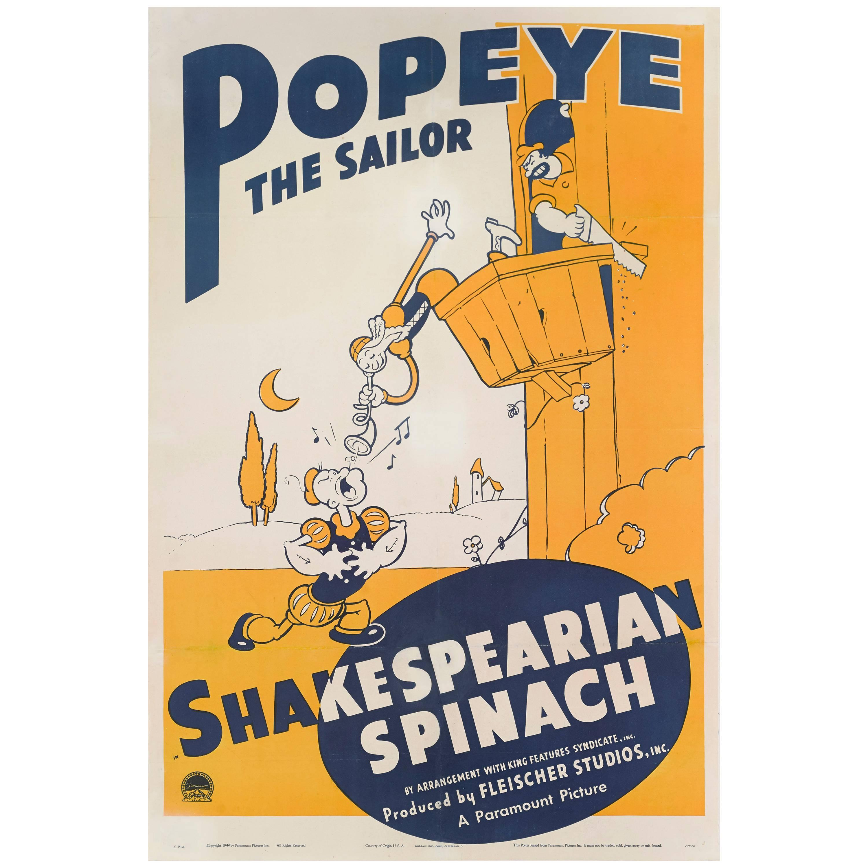 """Shakespearian Spinach"" Original US Movie Poster"
