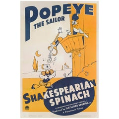 """Shakespearian Spinach"" Original US Movie Poster"
