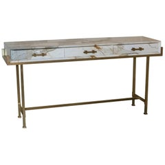 """Medea"" Console Table Paonazzo Marble"