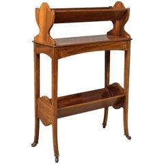Antique Bookstand, English, Edwardian Mobile Book Shelf, Mahogany, circa 1910