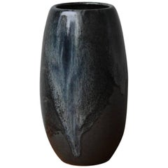 Kasper Würtz Small Tall Tulip-Shaped Vase Black Glaze
