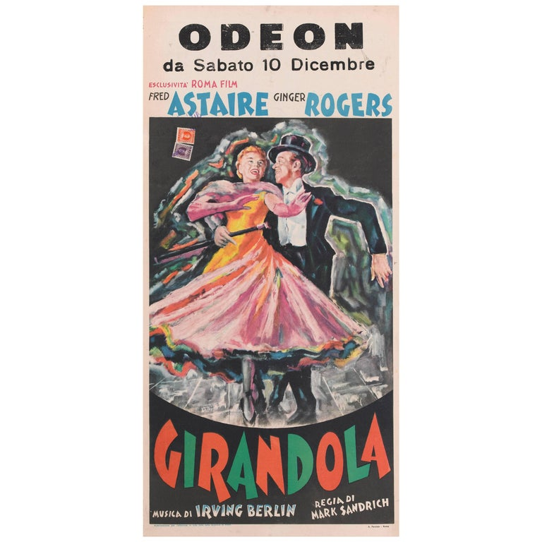 """Carefree / Girandola"" Italian Movie Poster"