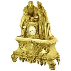 Mantel Clock, Ormolu, Jean Vincenti & Cie, France, circa 1840