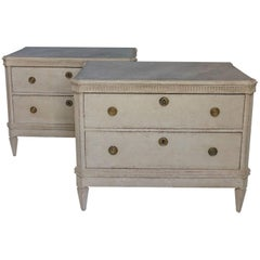 Pair of Gustavian Style Two-Drawer Chests