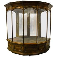 19th Century Rare Mercantile Haberdashery Glass Showcase