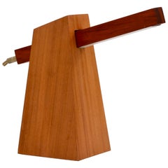 Table Lamp in Wood, Brazilian Contemporary Design by O Formigueiro