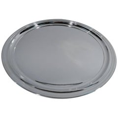 Tiffany Modern Sterling Silver Round Serving Tray