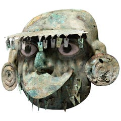 Moche Copper Bronze Mask
