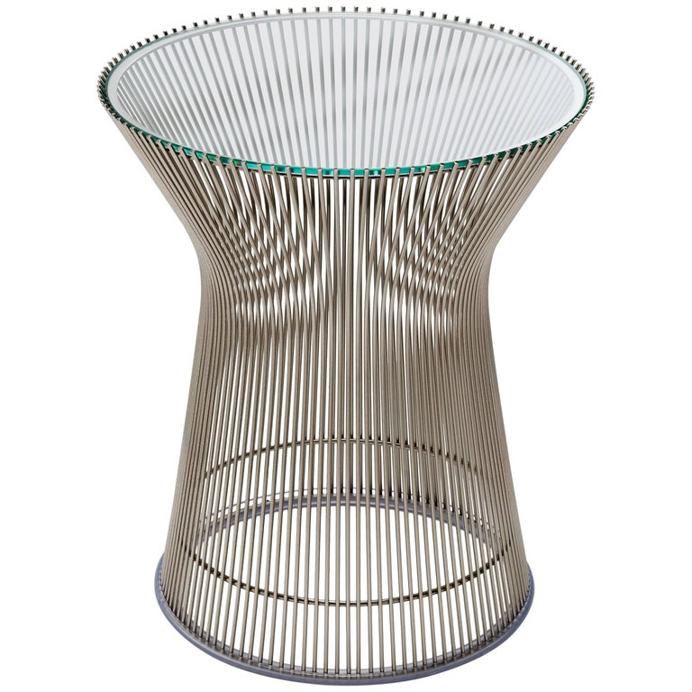 Wire Side Table by Warren Platner