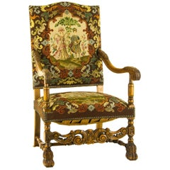 Antique Armchair Walnut Antique Chair, France, 1880