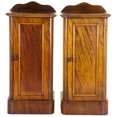 Antique Mahogany Nightstands Victorian Bedsides Chests, Scotland, 1870