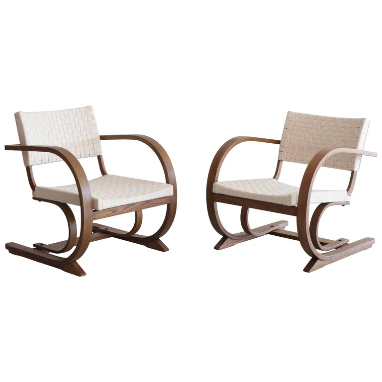 1950s French Bentwood Chairs For Sale