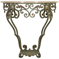 French Louis XV Style Iron Console