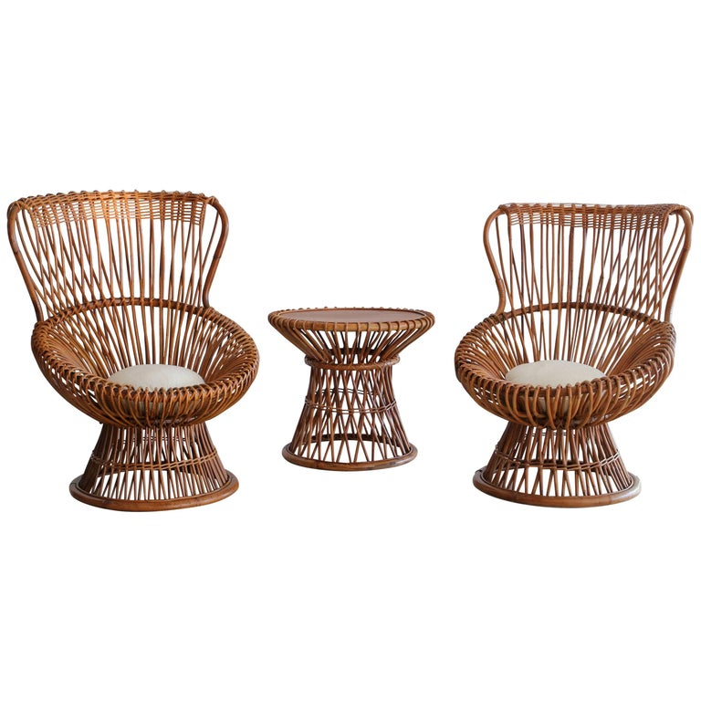 Franco Albini Margherita Chairs and Table For Sale