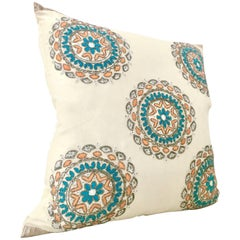 21st Century Silk Embroidered Crystal Embellished Down Pillow By, Sivaana