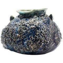 Mid-20th Century Japanese Seto Pottery Vase by Yamaguchi Kozaemon 13th