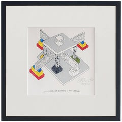 Ettore Sottsass Lithograph Hand Signed