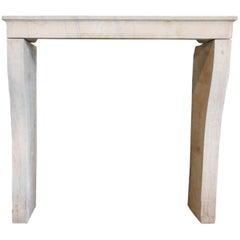 Antique Marble Stone Fireplace mantel, 19th Century
