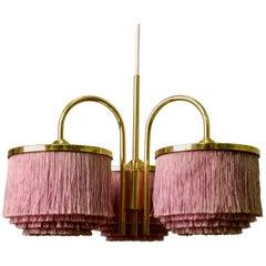 Pink Hans-Agne Jakobsson Silk Fringe Pendant, 1960s