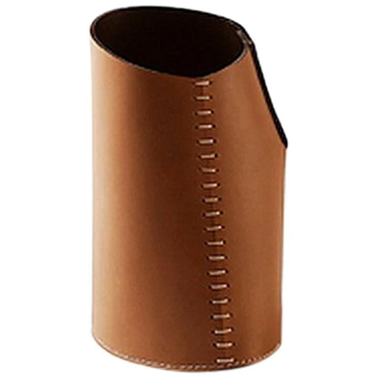 """""""Roum roum"""" Leather Container Designed by Claude Bouchard for Oscar Maschera For Sale"""